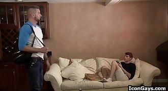 Gay son seduces step dad