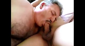 Daddy facial-rimming-fucking