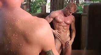 Young stepfather anal slurping