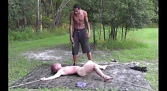 bondage slave black white