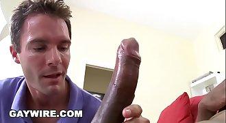 GAYWIRE - White Boy Cameron Kincade Loves Izzy's Big Black Cock!