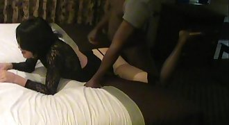 Country crossdresser gets fucked by big black hard-on